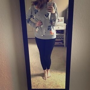 Floral pull over sweatshirt